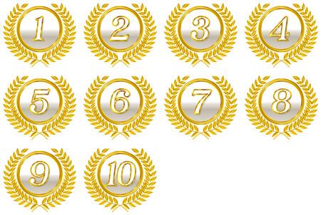 numero diez: número emblema