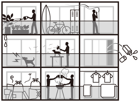 Apartment's nuisances 免版税图像 - 69254807