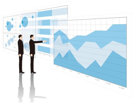 Graphs and businessmen