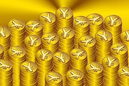 japanese yen: Japanese yen coin Illustration