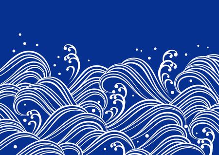 파란색 물결
