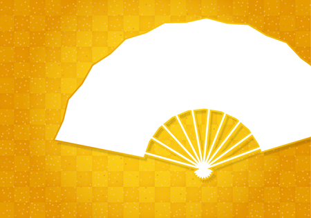 Folding fan background material. Japanese style.