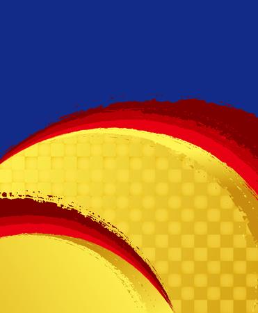 ブラシのインク マーク。和風の背景素材。