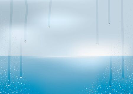 humid: Wet window glass Illustration