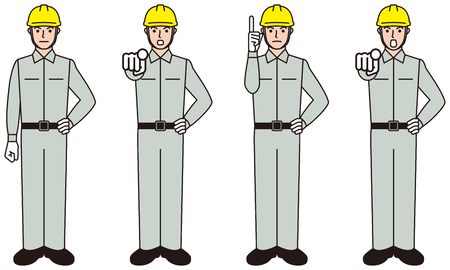 Worker. Working person. Pointing inspection.