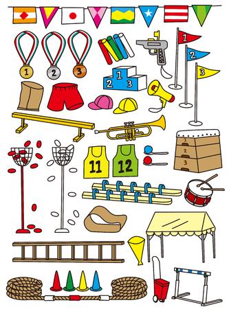 Elementary school sports festival tool Illustration