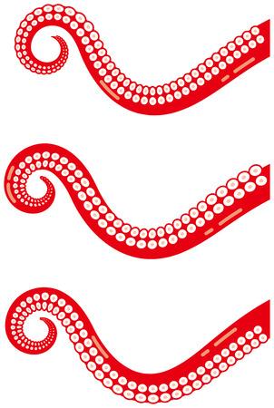 Les tentacules d'Octopus. Créatures de la mer. Banque d'images - 85418515