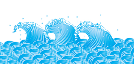 Wave of the sea. Japanese style.