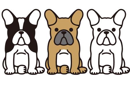French bulldog Funny Pet Dog Vettoriali