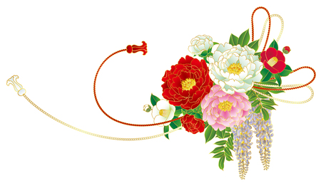 A bouquet, Japanese style vector illustration. Illustration