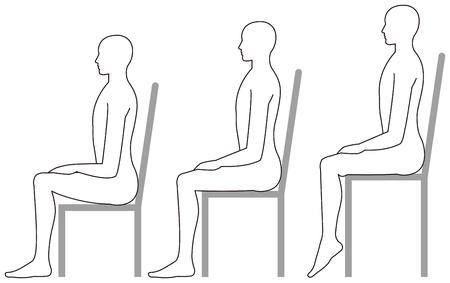 座るための高い椅子と低い椅子