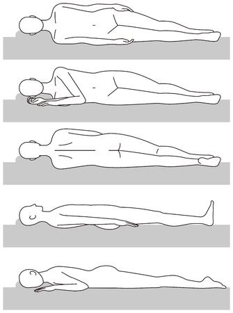 Sleeping posture. Upward. Stabbing