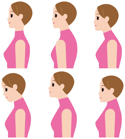 Distortion of the neck vector illustration. Illustration