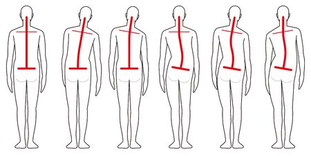 Human back shape Ilustrace