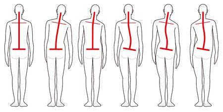 Human back shape Illustration