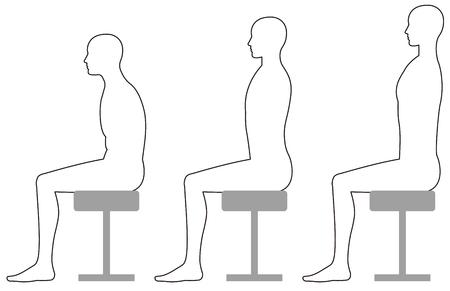 椅子に座っているときの姿勢 写真素材 - 90149752