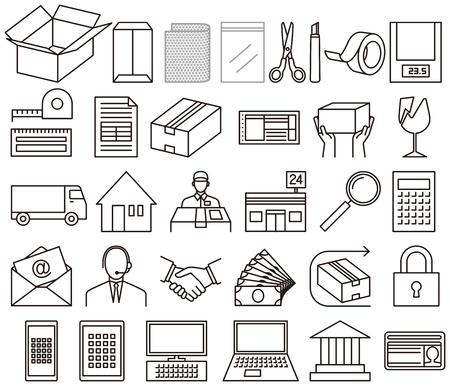 Icône pour le commerce par communication Internet Banque d'images - 90591504