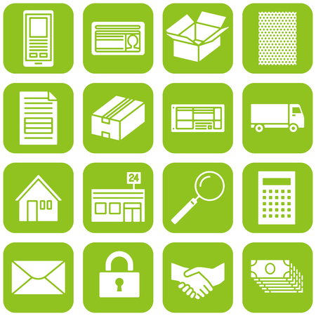 Icon for trading by Internet communication Stock Vector - 90591503