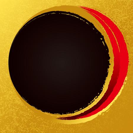 Circle drawn with a brush 向量圖像