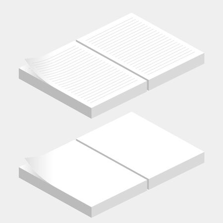 Dokumente und kopieren Sie Papier . Bürobedarf Illustration Standard-Bild - 92866495