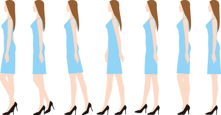 Um, mulher, desgastar, alto, heels.walking Foto de archivo - 93453022