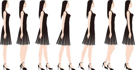 Uma mulher em um vestido com saltos altos. Foto de archivo - 93453312