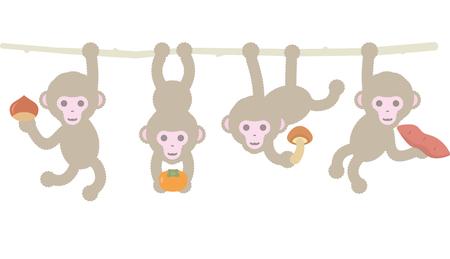 Childrens monkey with autumn harvest