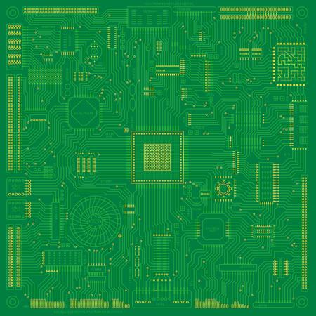 illustration illustration de tableau et circuit électronique