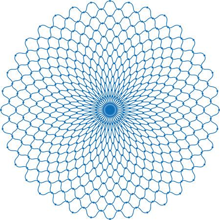 Fishing net in circular pattern. Illustration
