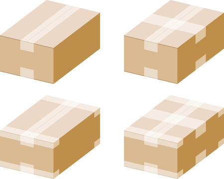 Cardboard boxes with  tapes