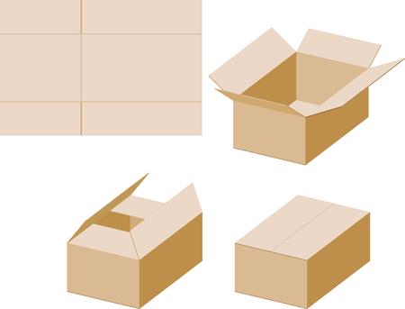 Assembling a cardboard box vector illustration