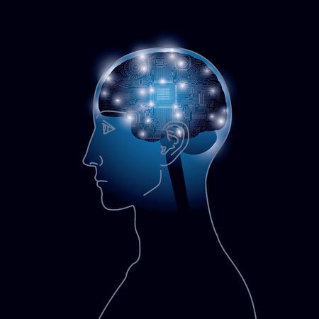 人工知能、技術のイメージ。