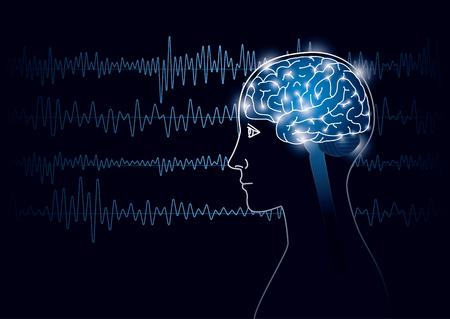 人間と脳波の画像。 写真素材 - 96697449