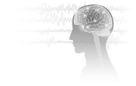 人間と脳波の画像。 写真素材 - 96697453