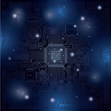 Ilustración de imagen de placa de circuito