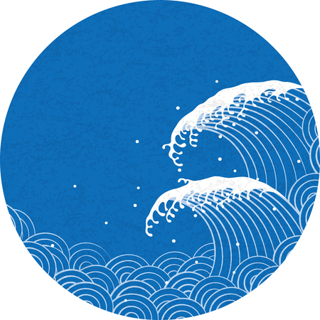 wave. the pattern of Japanese style.