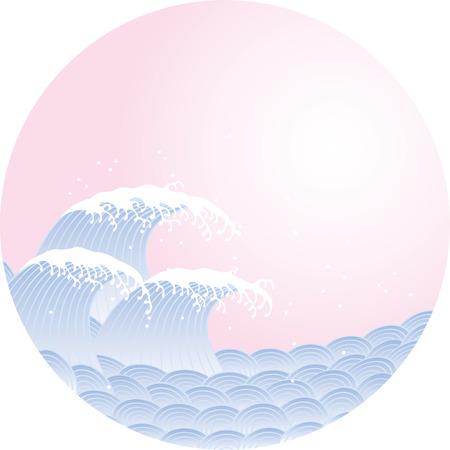 Welle . Das Muster des japanischen Stil Standard-Bild - 98528019