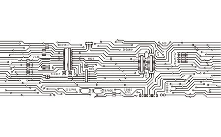 geïntegreerde schakelingen Vector Illustratie