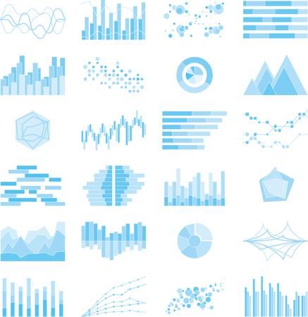 Bild von Graphen und Diagramme Design Grafik Illustration Vektorgrafik
