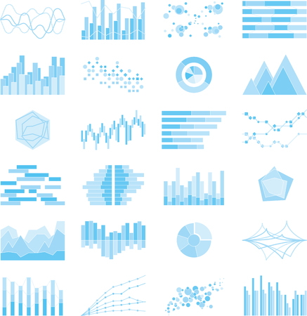 Image of graphs and charts design graphic illustration