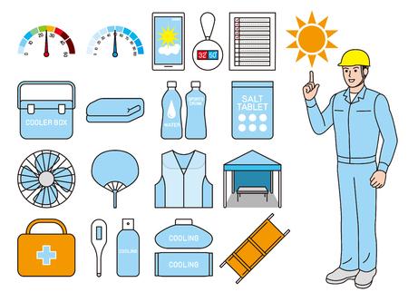Tool for measures against heat stroke