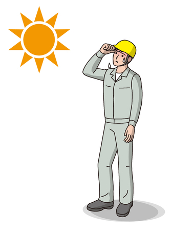 Worker of heat stroke
