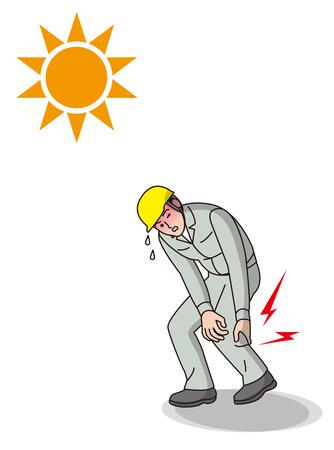 Trabajador de golpe de calor