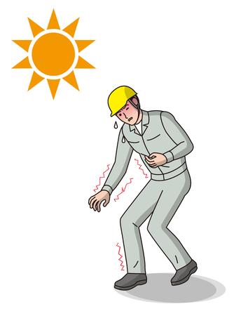 Worker of heat stroke