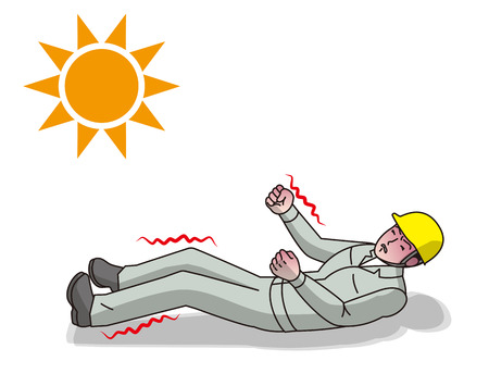 Heat stroke illustration