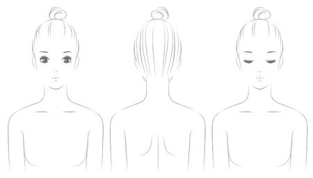 Parte superior del cuerpo de las mujeres