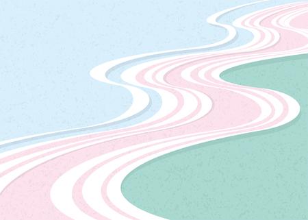 Flowing water pattern Illustration