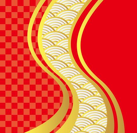 Japanese style image Wave