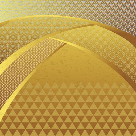 Japanische traditionelle Muster. Japanisches Hintergrundmaterial. Vektorgrafik