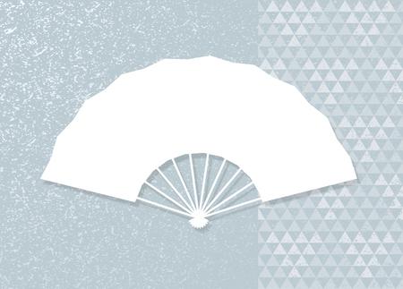Triangular patterns and folding fan.